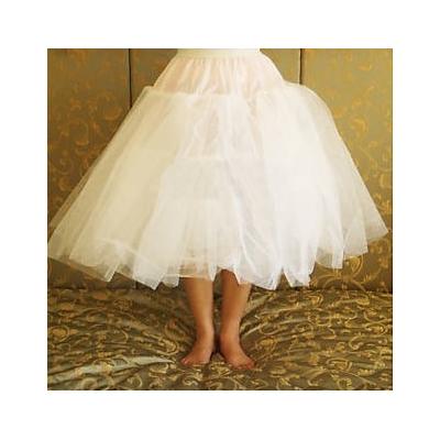 Kratší bílá čtyřvrstvá tylová spodnička