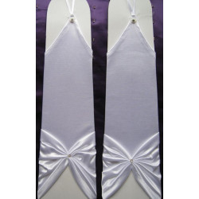 Bílé saténové rukavičky