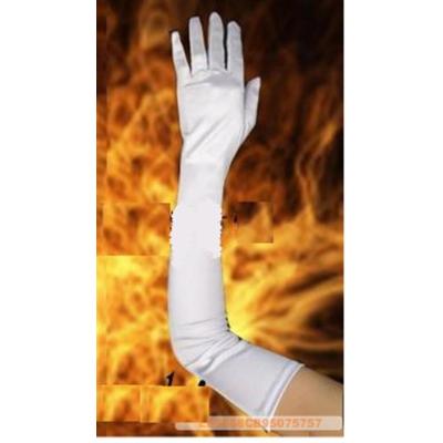 Dlouhé saténové prstové rukavičky
