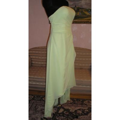 Dlouhé zelinkavé šifonové šaty-velikost M