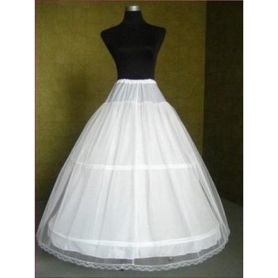 XL bílá dvouvrstvá spodnice se dvěma obručemi