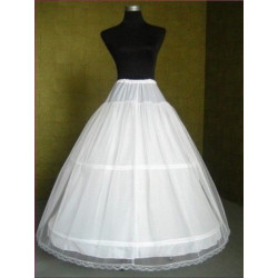 XL bílá dvouvrstvá spodnička se dvěma obručemi