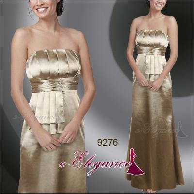 Zlaté dlouhé společenské šaty