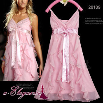 Růžové koktejlové šaty
