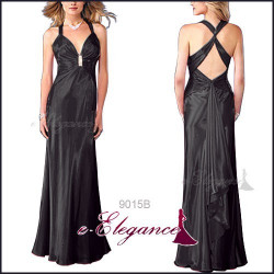 Černé dlouhé společenské šaty
