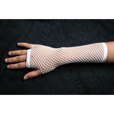 Bílé síťované rukavičky