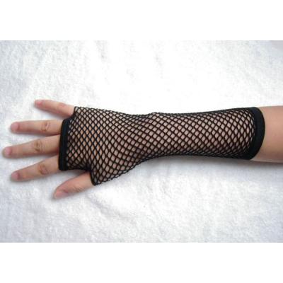 Černé síťované rukavičky