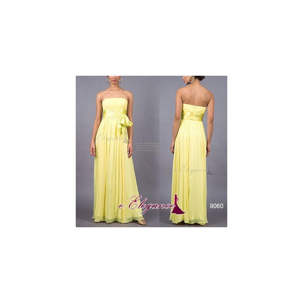 50b92d3f12d Ever-Pretty Žluté dlouhé společenské šaty