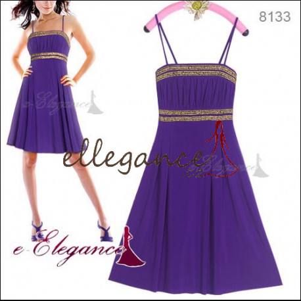 446337669bdc Ever-Pretty Fialové koktejlové šaty