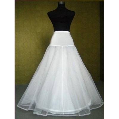XL-Bílá třívrstvá spodnička s jednou obručí