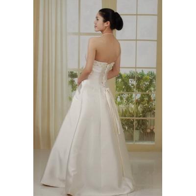 Saténové svatební šaty - velikost M