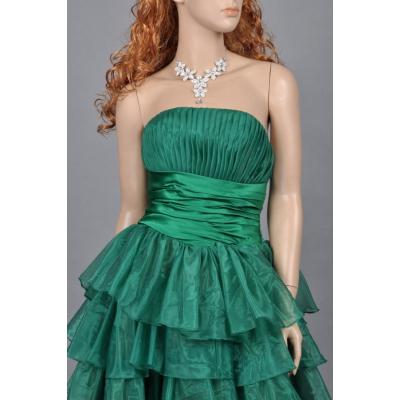 Zelené koktejlové šaty - velikost M