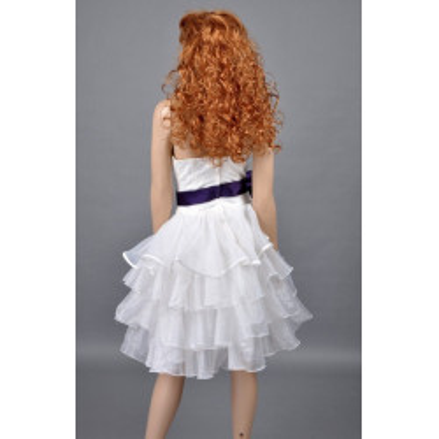 Bílé koktejlové šaty - velikost M