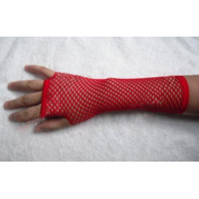 Červené síťované rukavičky