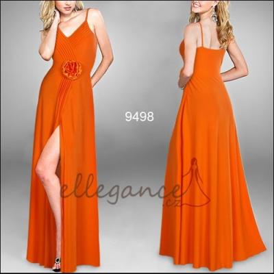 Oranžové společenské šaty