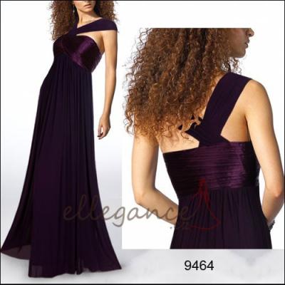 Fialové společenské šaty