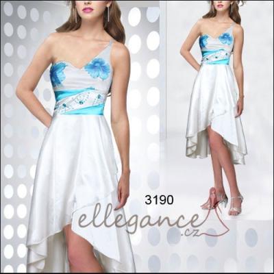 Koktejlové šaty s asymetrickou délkou sukně