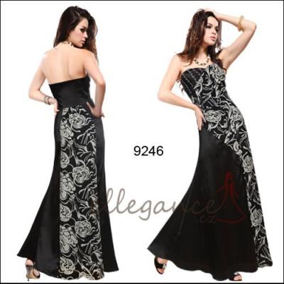 Černo bílé společenské šaty