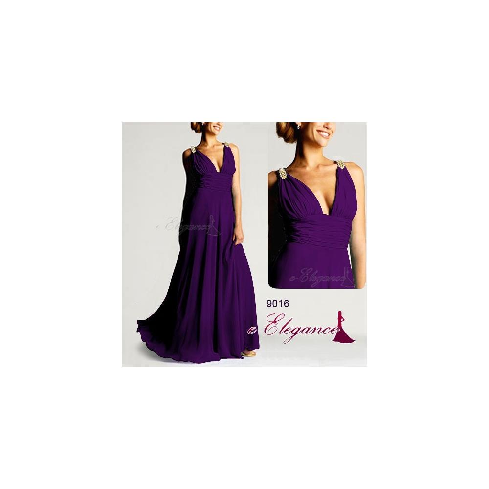 Ever-Pretty Dlouhé fialové společenské šaty 4602556f3f3