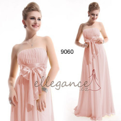 Dlouhé růžové společenské šaty