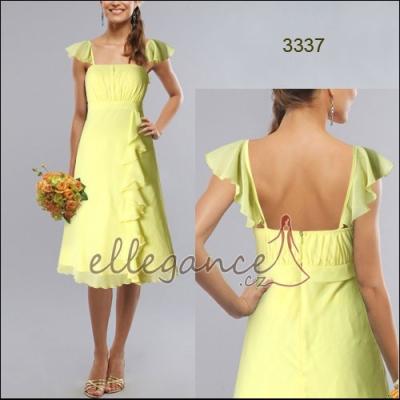 Žluté šifonové šaty