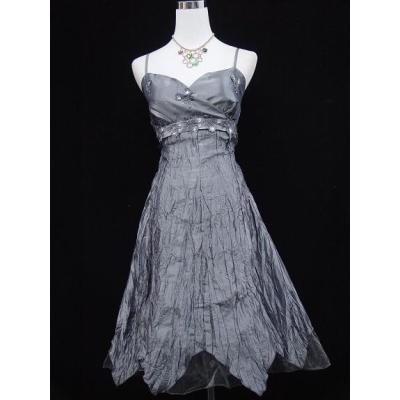Šedo stříbrné koktejlové šaty
