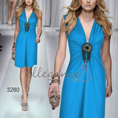Modré koktejlové šaty