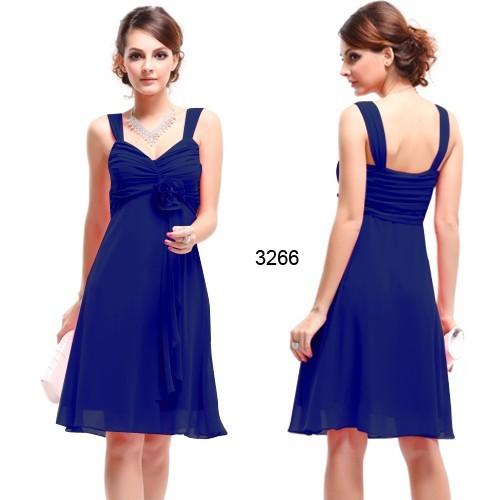 49fa2fa5c6e4 Ever-Pretty Šifonové modré koktejlové šaty