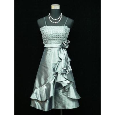 Stříbrno šedé koktejlové šaty