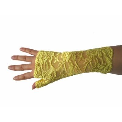 Žluté krajkové rukavičky