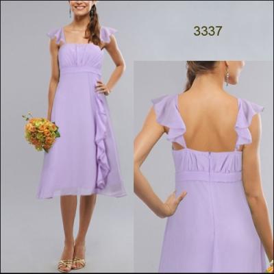Fialkové šifonové šaty