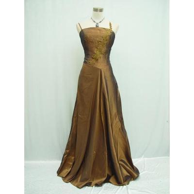 Zlatavo měděné společenské šaty