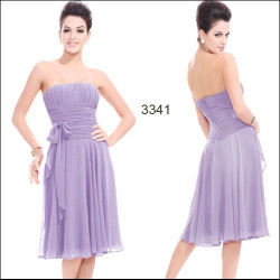 Šifonové fialkové koktejlové šaty