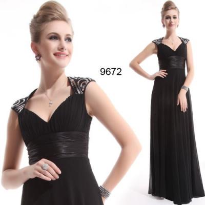 Černé slavnostní šaty s vlečkou