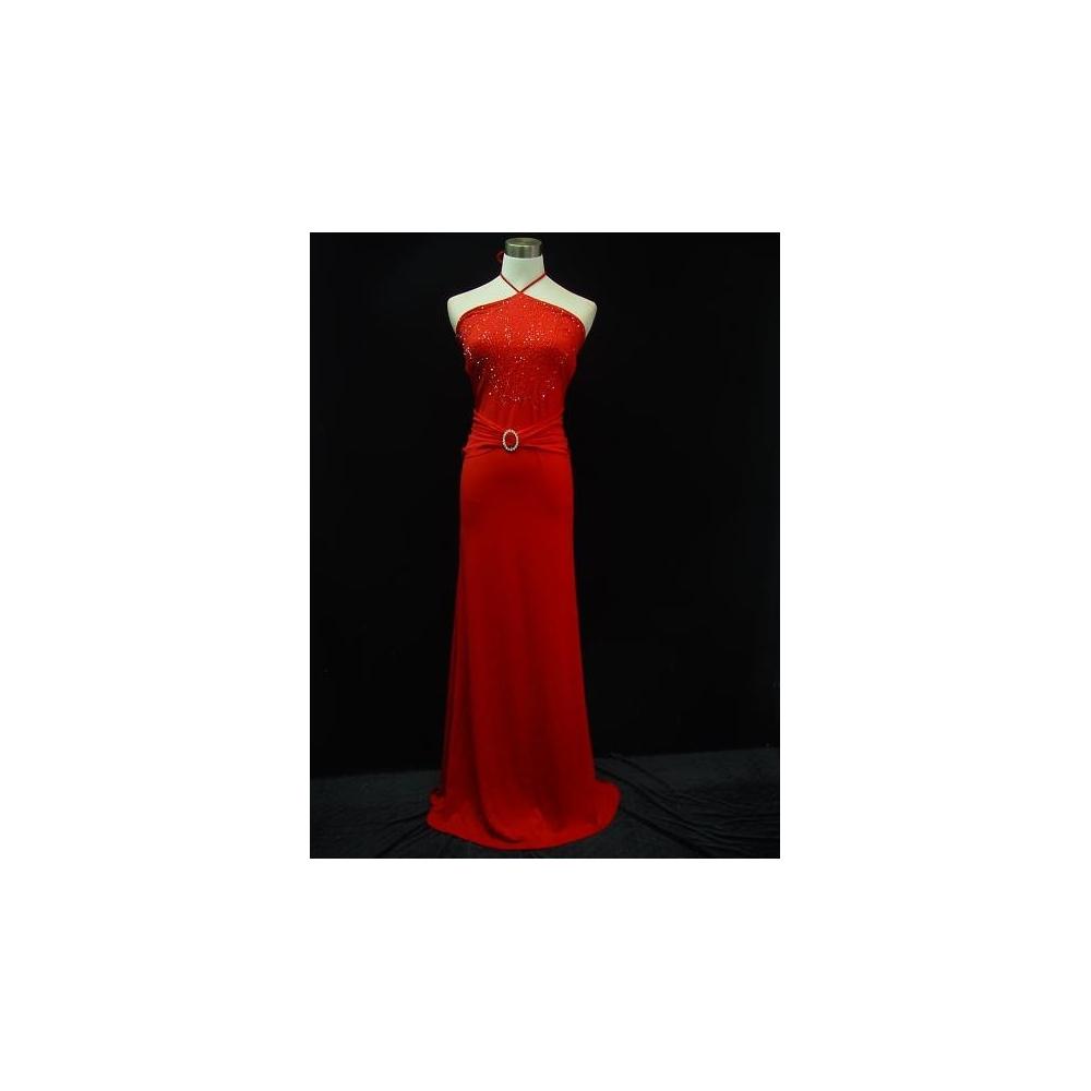 Dlouhé červené společenské šaty s holými zády 567c79fbcfb
