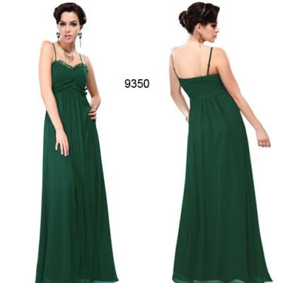 Tmavě zelené společenské šaty