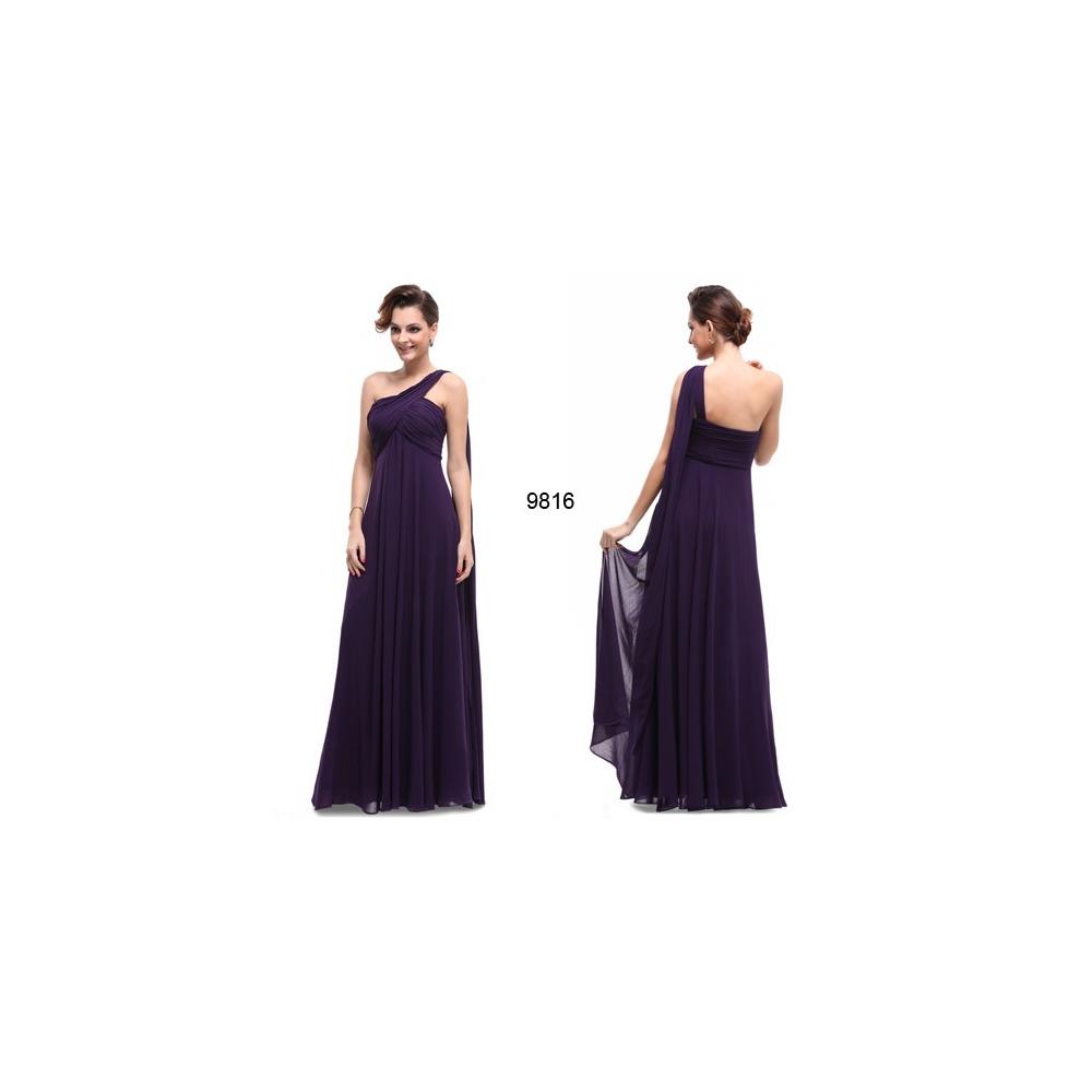 Ever-Pretty Fialové dlouhé společenské šaty b7e79697d0