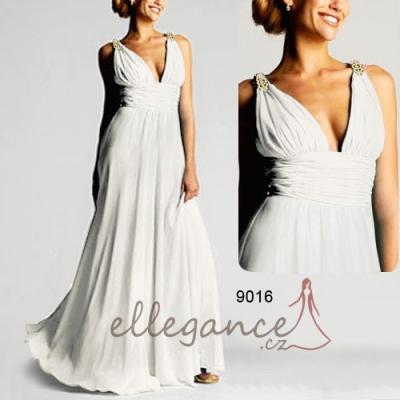 Dlouhé bílé společenské šaty