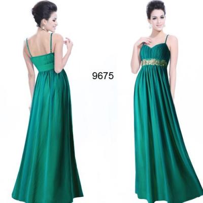 Zelené dlouhé společenské šaty