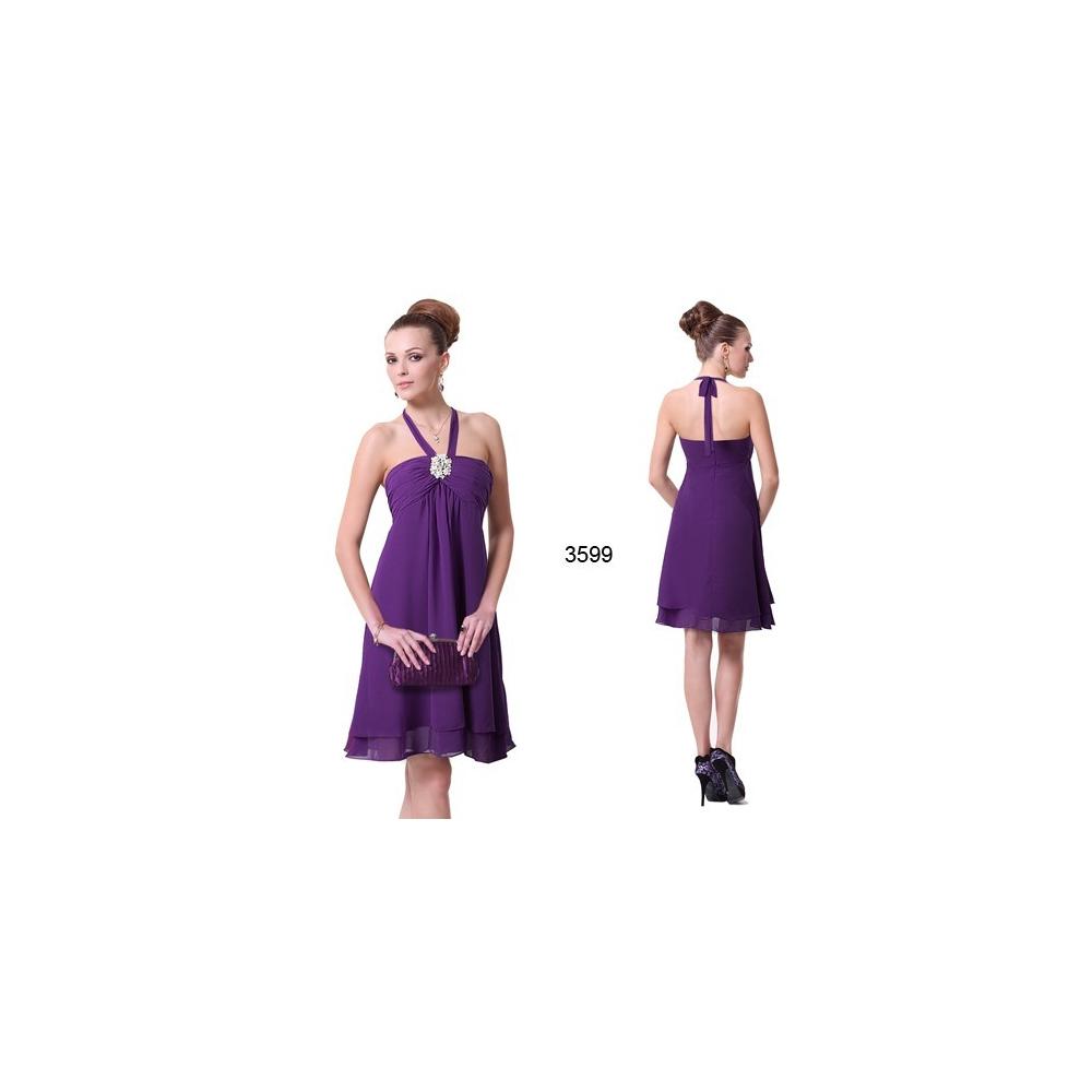 Fialové koktejlové šaty