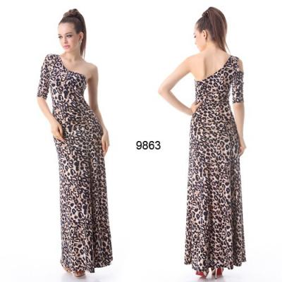 Dlouhé leopardí šaty