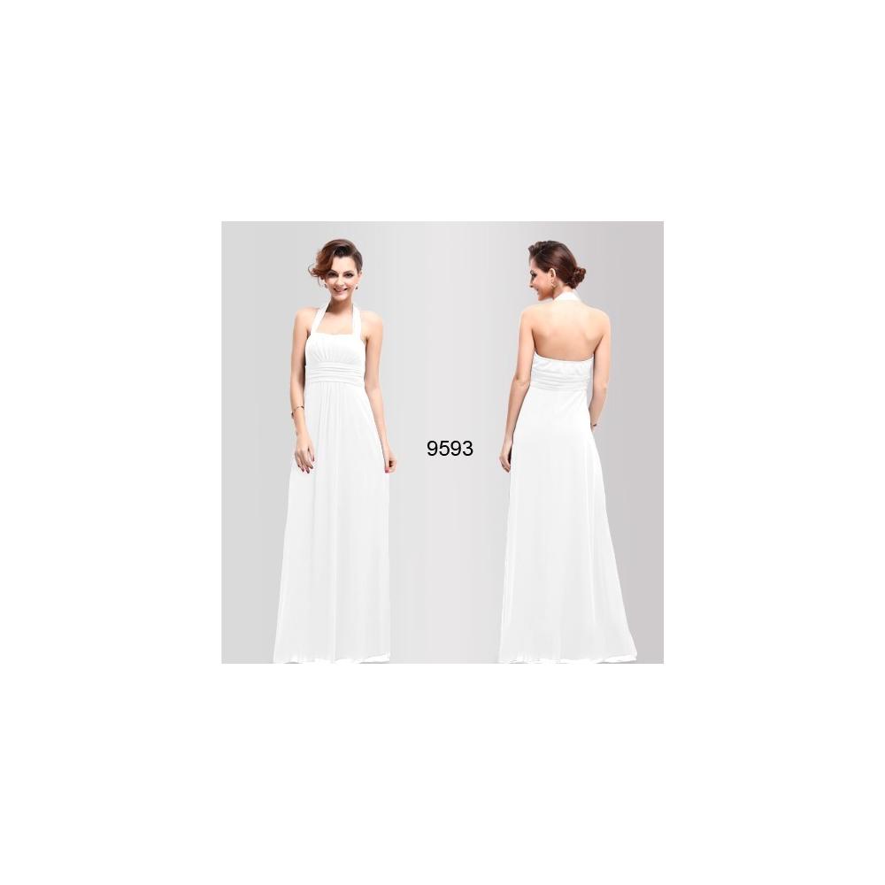 Ever-Pretty Dlouhé bílé společenské šaty 1073a4ca97