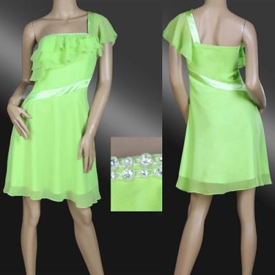 Zelené šifonové koktejlky