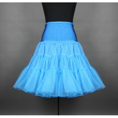 Kratší modrá třívrstvá spodnička