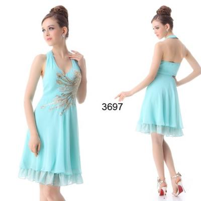 Světle modré koktejlové šaty