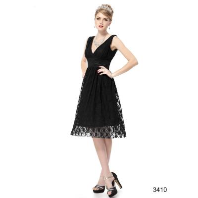Černé krajkové koktejlové šaty