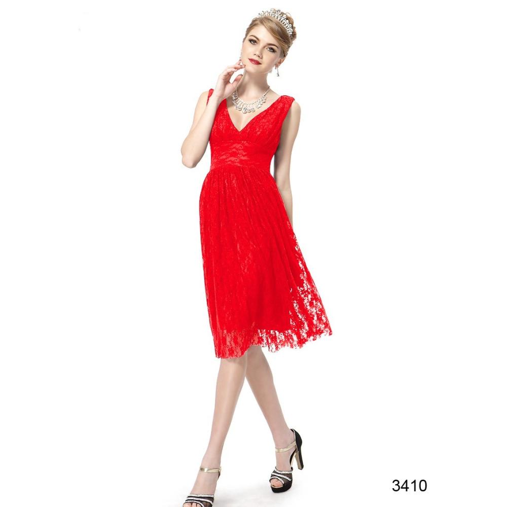 Ever-Pretty Červené krajkové koktejlové šaty f6a5e2394b5