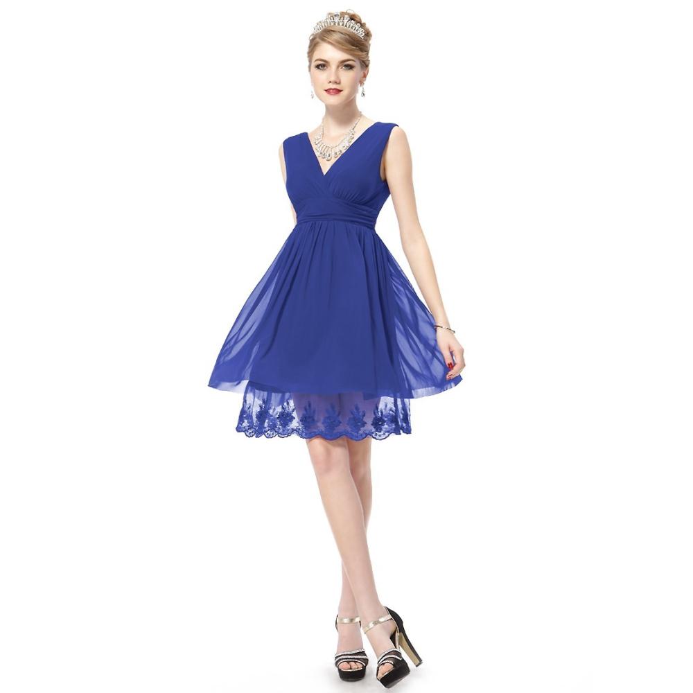 23163358c277 Ever-Pretty Modré koktejlové šaty