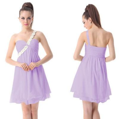 Fialkové koktejlové šaty
