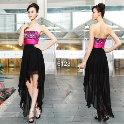 Černo růžové společenské šaty